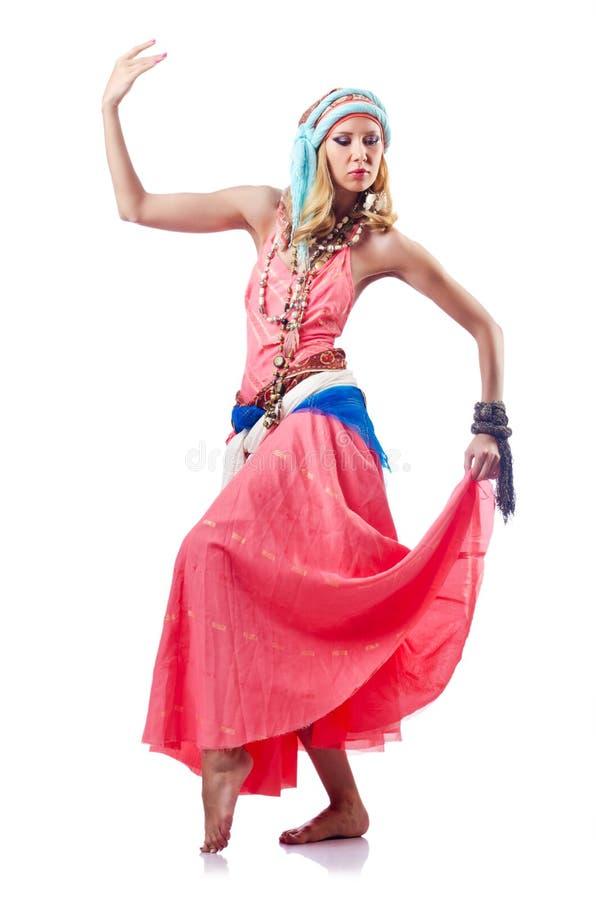 Danser för dansaredansspanjor arkivfoto