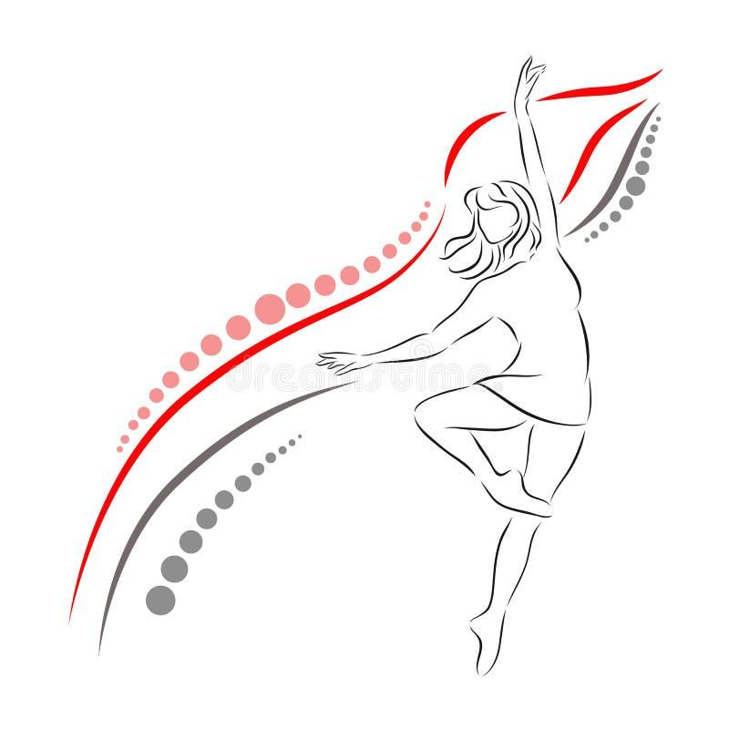 Danser Girl stock afbeelding