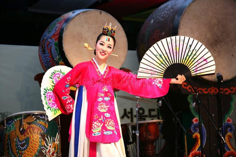 Danser Koreaan royalty-vrije stock afbeeldingen