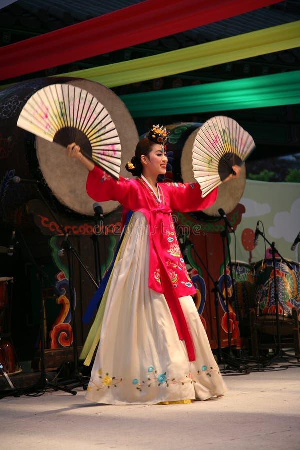 Danser Koreaan royalty-vrije stock foto's
