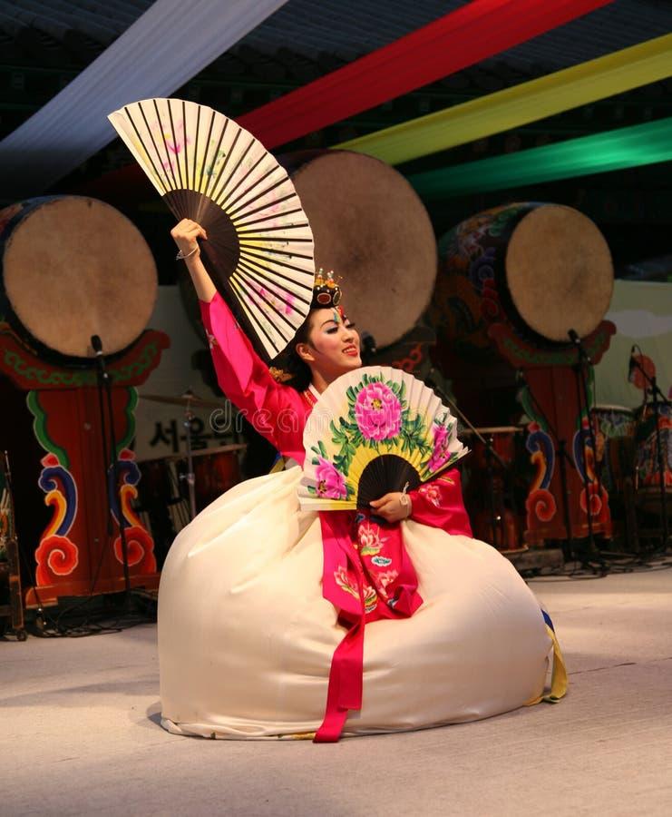 Danser Koreaan royalty-vrije stock fotografie