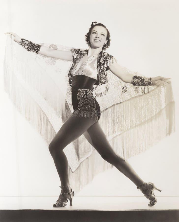 Danser met Latijns talent stock afbeeldingen