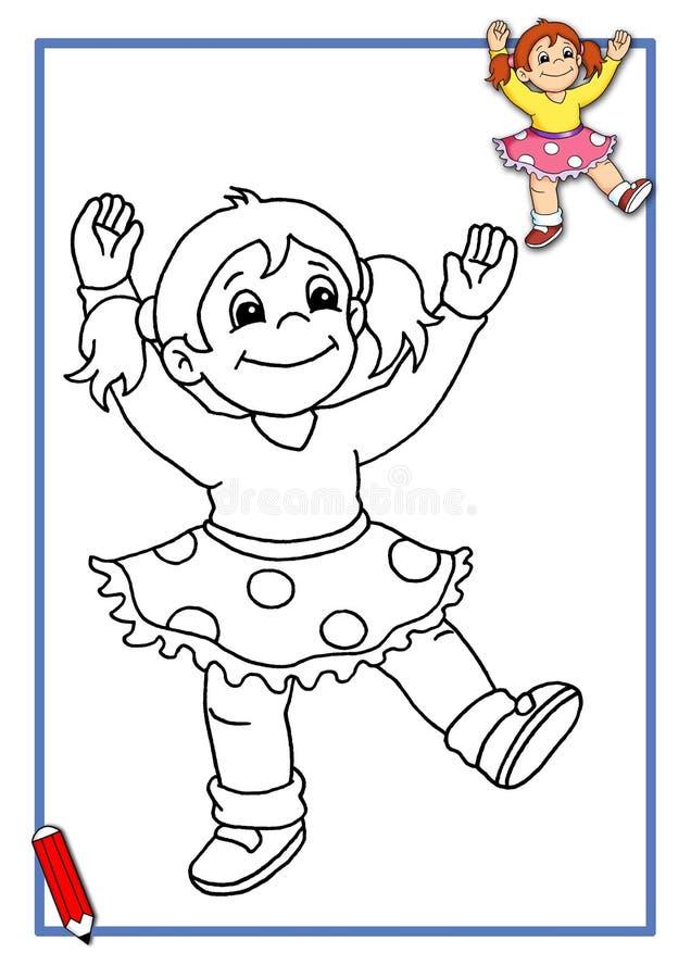 Danser om kleur te zijn stock illustratie