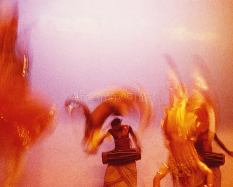 Dansers 09 van Ceylon royalty-vrije stock foto's