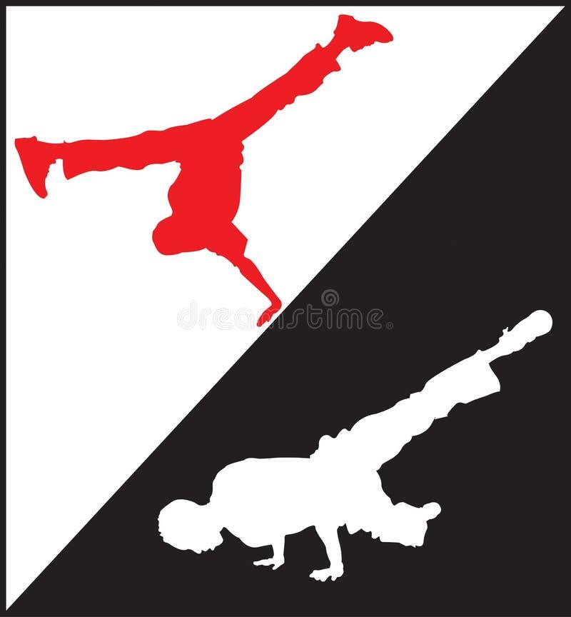 Dansers 1 van de onderbreking stock illustratie