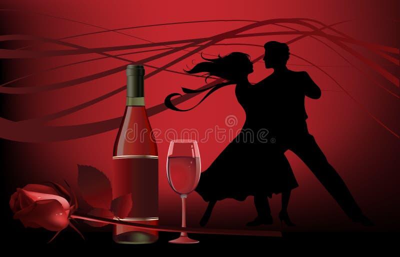 Dansers. royalty-vrije illustratie