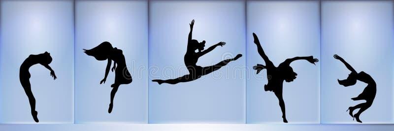 Dansers royalty-vrije illustratie