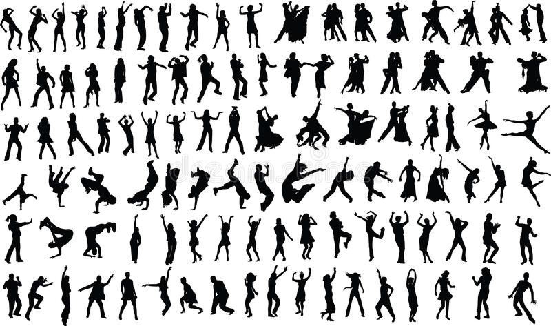 Dansers vector illustratie