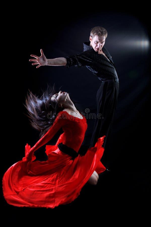 Dansers in actie stock afbeeldingen
