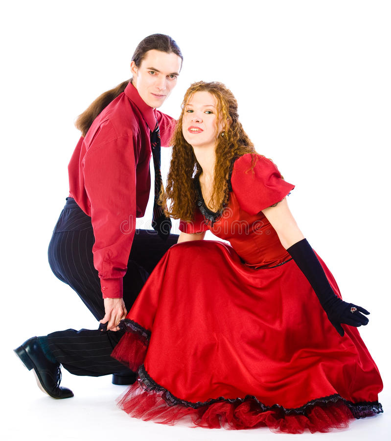 Dansers Boogie -boogie-voogie Royalty-vrije Stock Foto