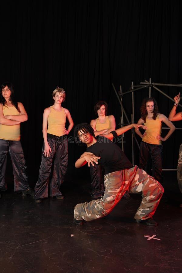 Dansers op stadium royalty-vrije stock foto's