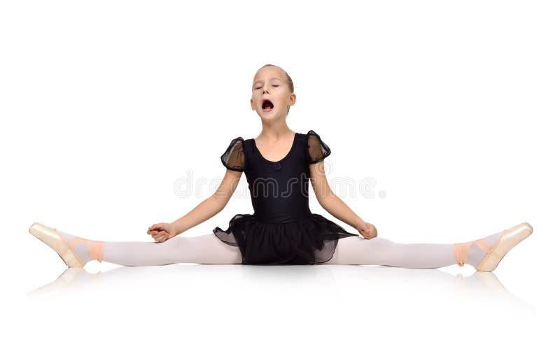Dansersmeisje het schreeuwen royalty-vrije stock fotografie