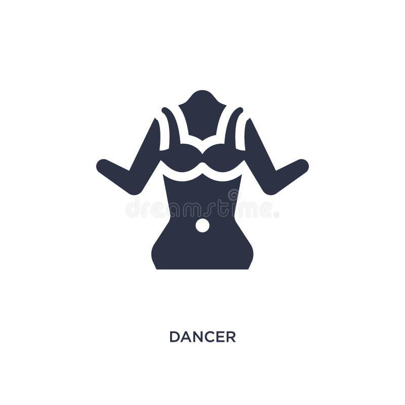 danserspictogram op witte achtergrond Eenvoudige elementenillustratie van braziliaconcept stock illustratie