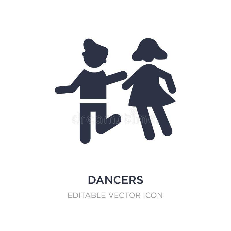 danserspictogram op witte achtergrond Eenvoudige elementenillustratie van Mensenconcept vector illustratie