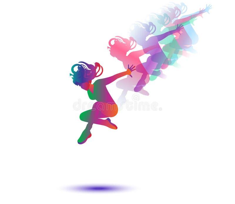Dansersvrouw royalty-vrije illustratie