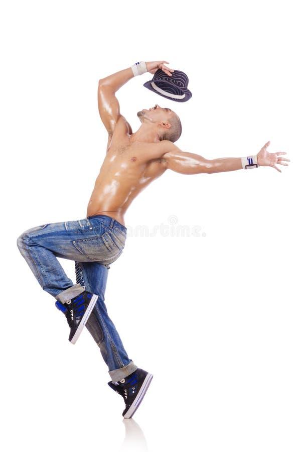 Danses de danse de danseur d'isolement photographie stock libre de droits