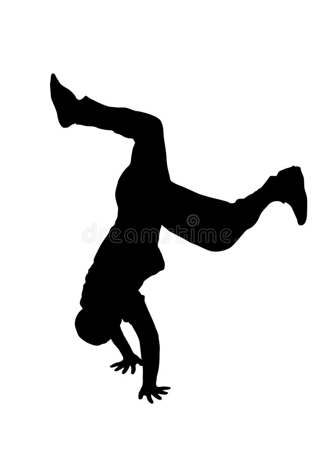Danseur 1 de rue illustration stock