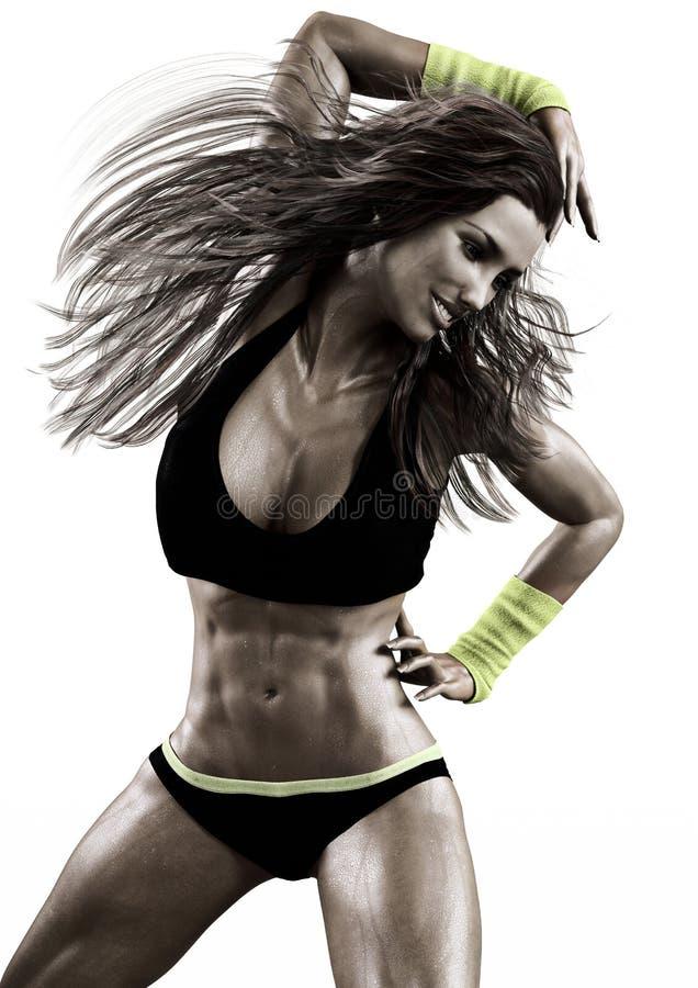 Danseur aérobie féminin images stock