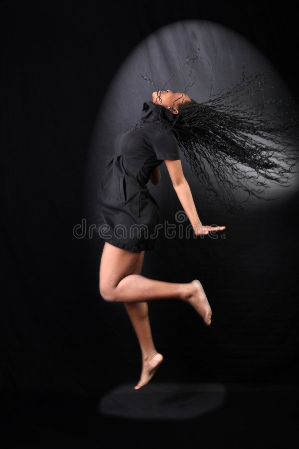 danseur afro-américain image stock