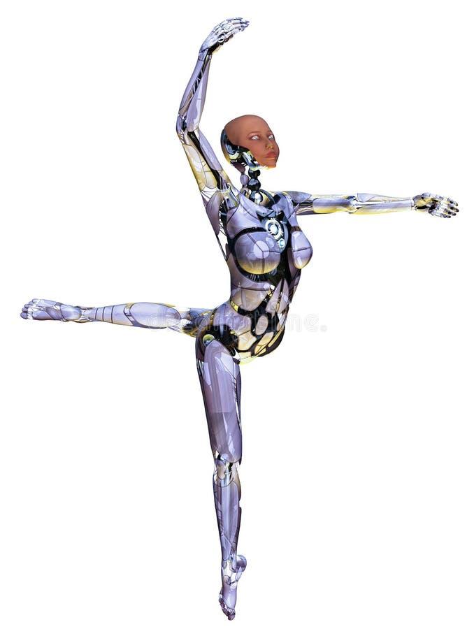 Danseur androïde illustration de vecteur