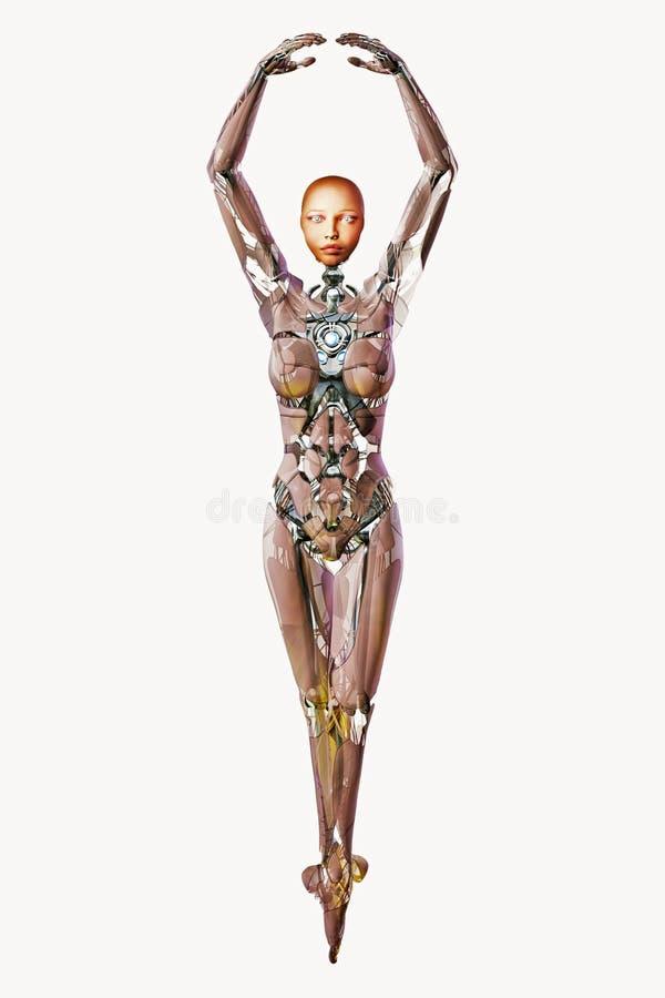 Danseur androïde illustration libre de droits