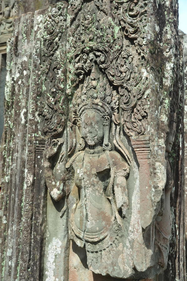 Danseur Carving d'Apsara photographie stock