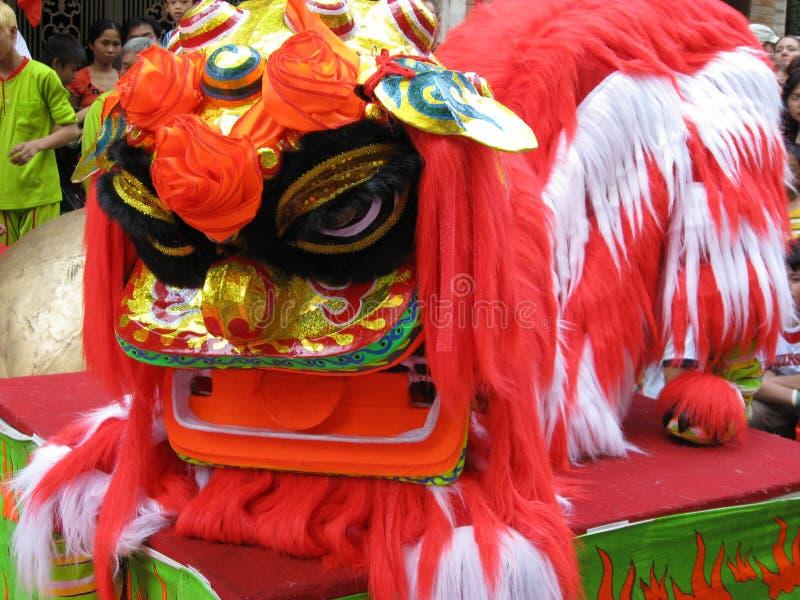 Danseur chinois de lion photos stock