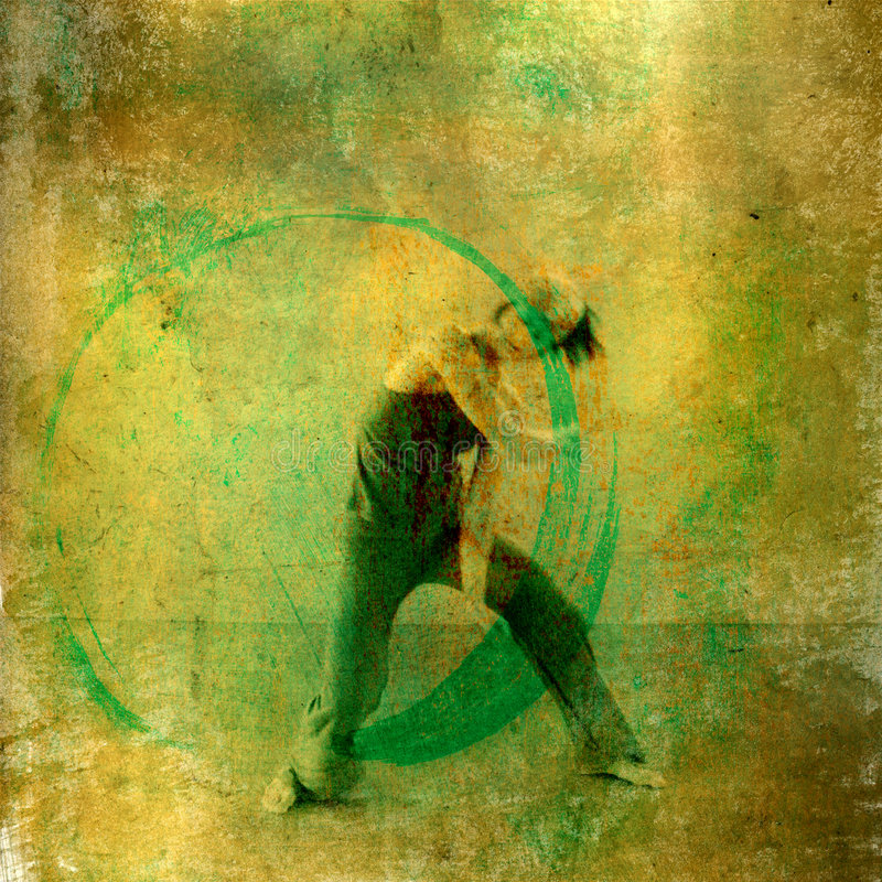 Danseur circulaire illustration libre de droits