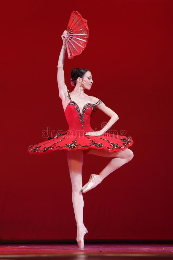 Danseur classique, ballerine de prima de théâtre Victoria Ter de Mariinsky photos stock