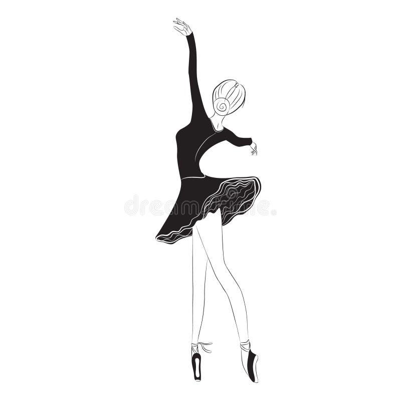 Danseur classique dans la jupe de tutu illustration libre de droits