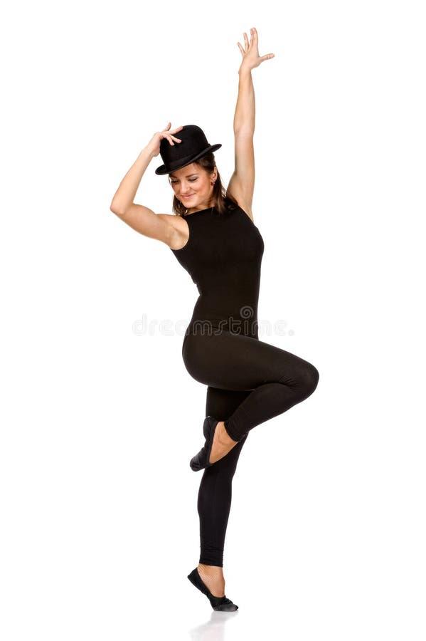 Danseur classique moderne de femme de style contemporain. photo stock
