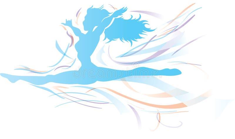 Danseur coulant librement de danseur coulant librement illustration de vecteur