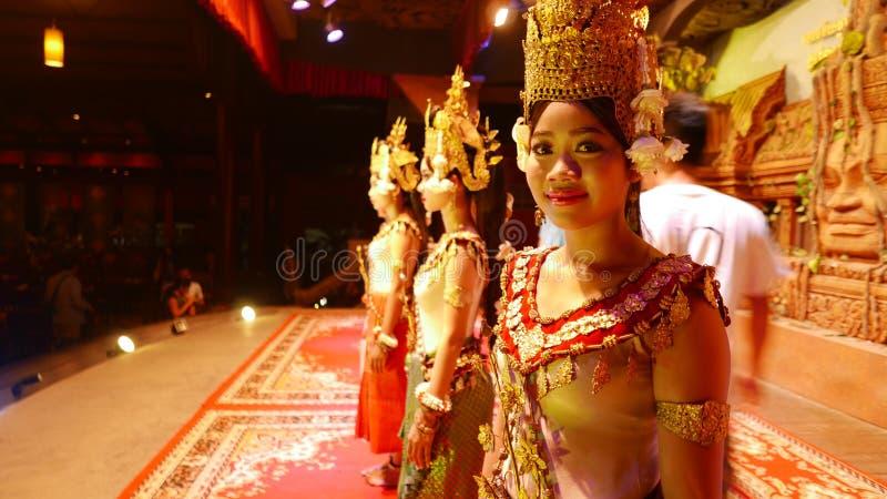 Danseur d'Apsara de Siem Reap Cambodge images libres de droits
