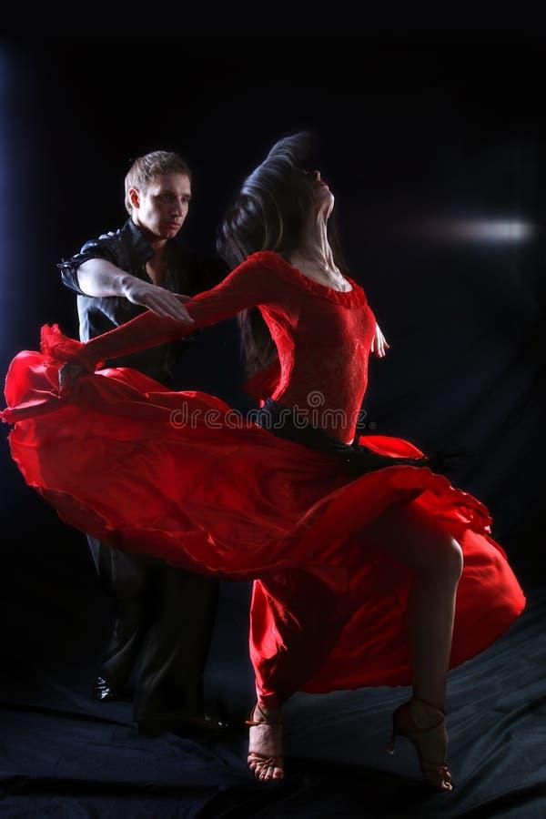 Danseur dans l'action photographie stock