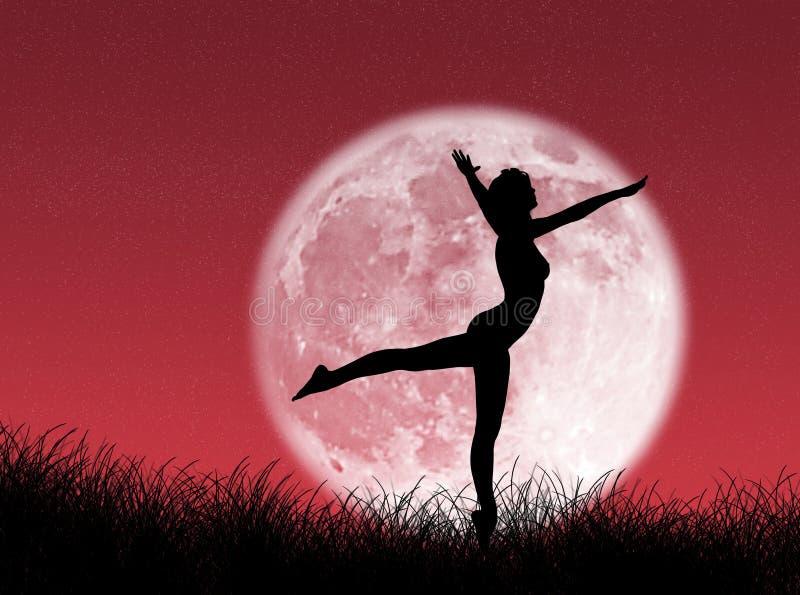 Danseur dans la lune illustration de vecteur