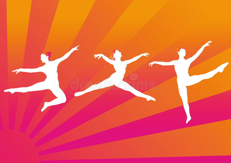 Danseur de ballet illustration stock