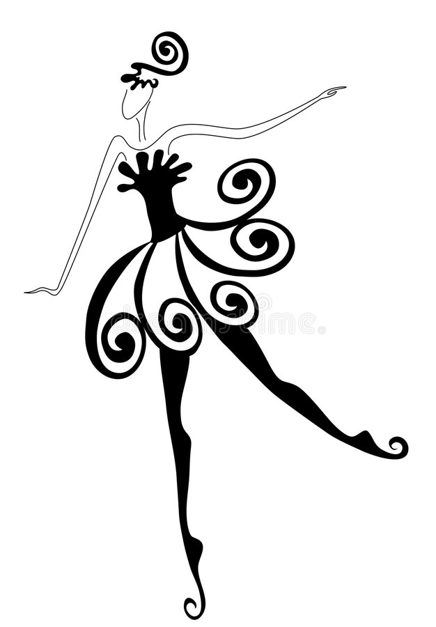Danseur de ballet illustration stock