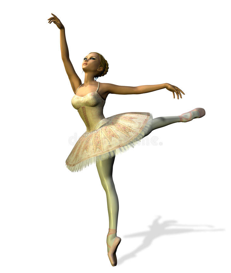 Danseur de ballet - avec le chemin de découpage illustration libre de droits