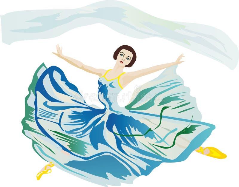 Danseur de ballet dans le saut illustration stock