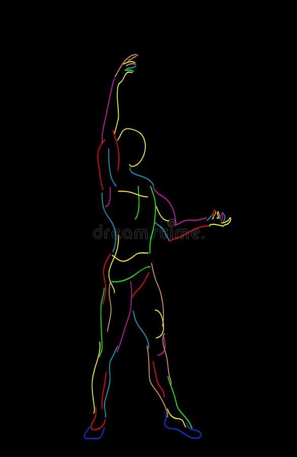 Danseur de ballet stylisé illustration de vecteur