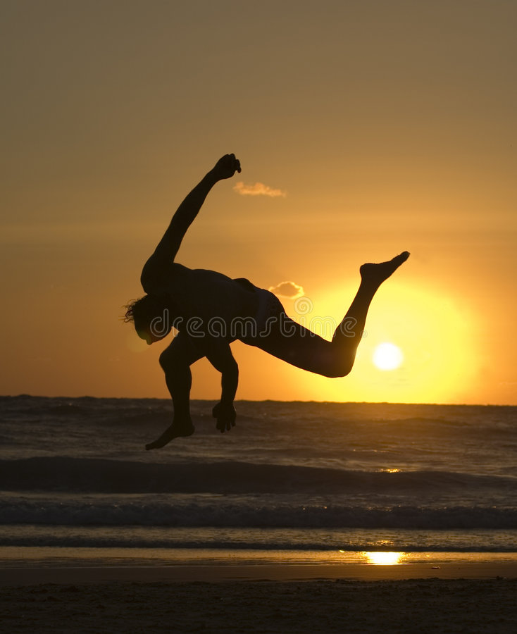 Danseur De Capoeira Images libres de droits