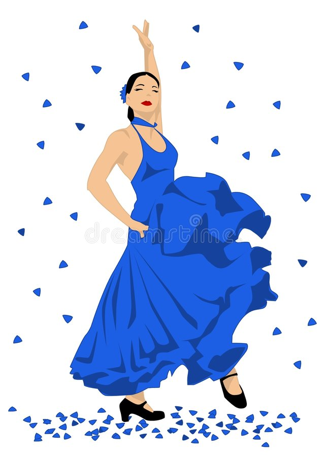 Danseur de flamenco illustration libre de droits