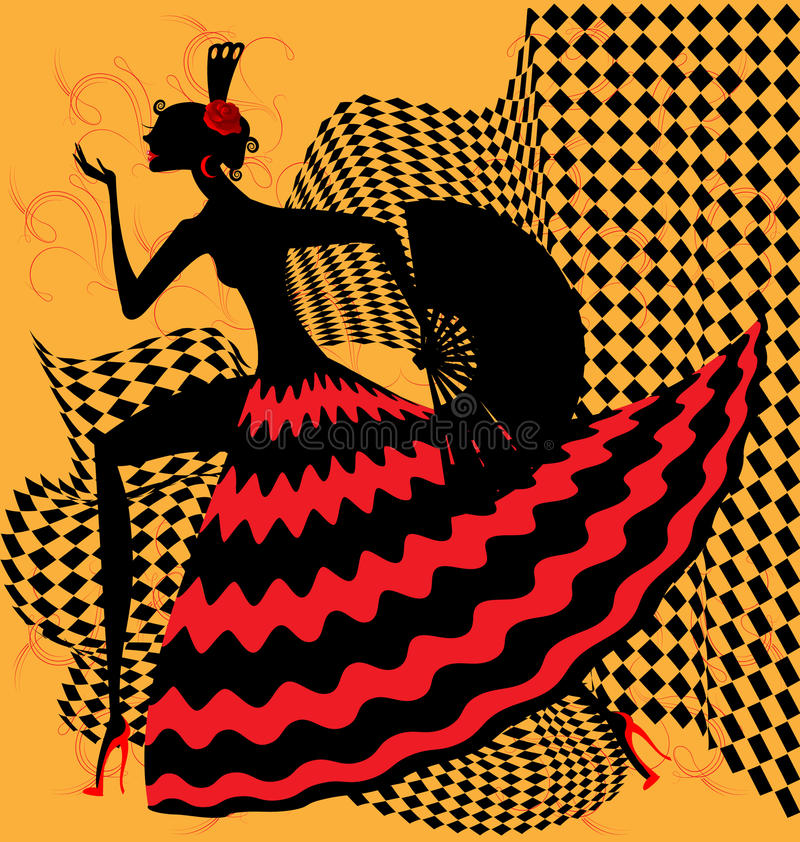 danseur de flamenco illustration libre de droits