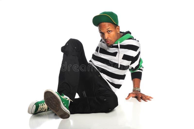 Danseur de Hip Hop d'Afro-américain images stock