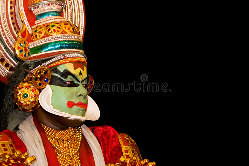 Danseur de Kathakali photographie stock libre de droits