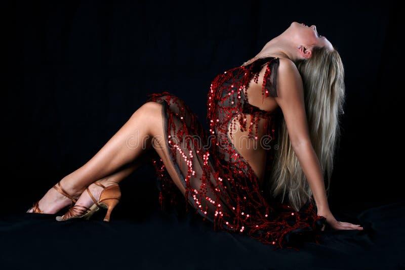 Danseur de latin de fille photos libres de droits