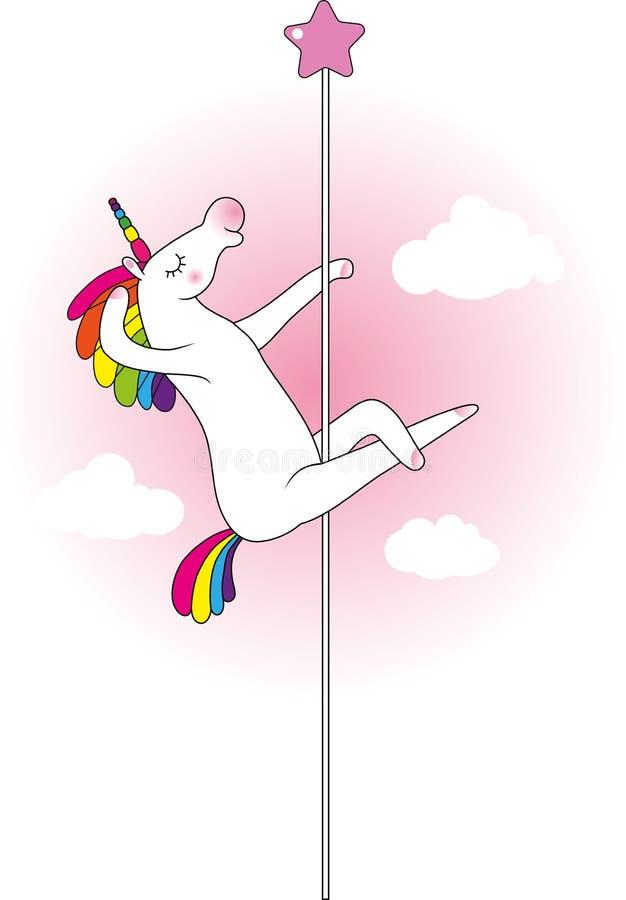 Danseur de poteau de licorne illustration libre de droits