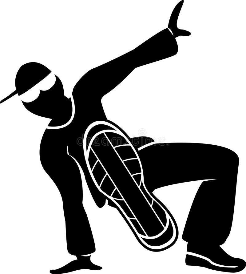 Danseur de rue illustration de vecteur