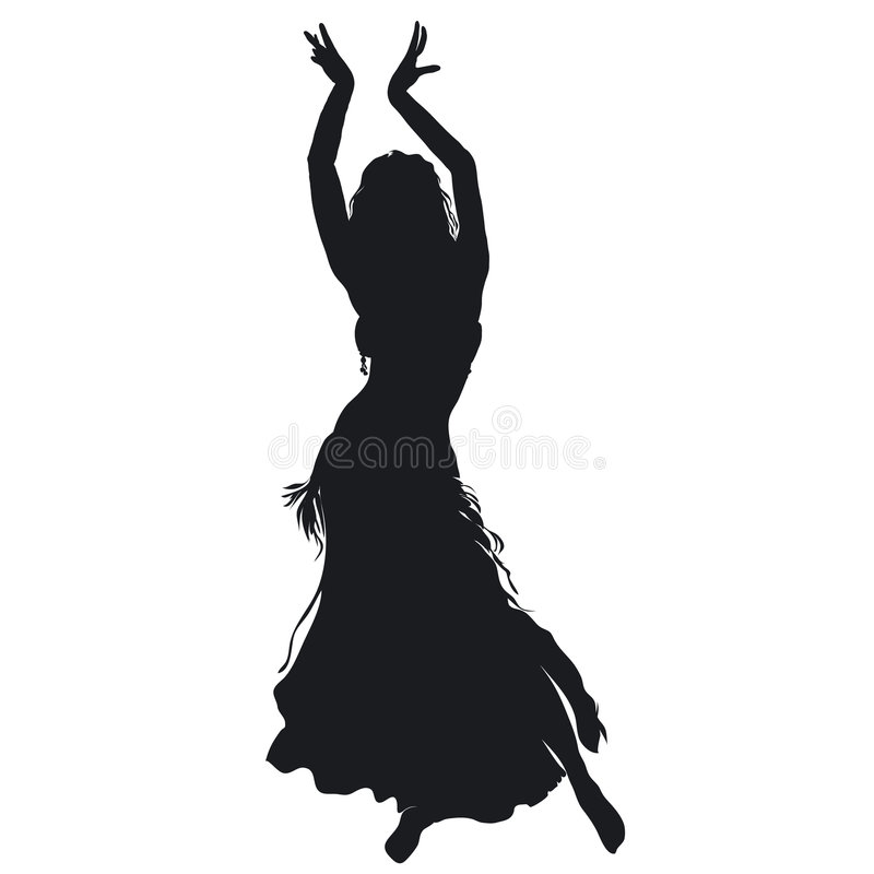 Danseur de ventre illustration stock