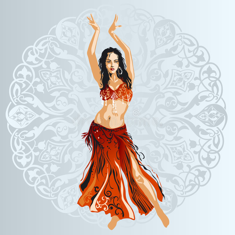 Danseur de ventre photo libre de droits